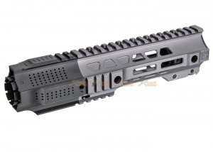 G&P CQB Railed Handguard With SAI QD System for Tokyo Marui, G&P M4 / M16 AEG RIFLE -  Gray