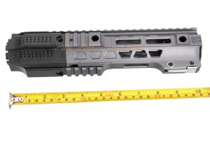 g&p cqb railed handguard with sai qd system for tokyo marui g&p m4 m16 aeg gbb rifle gray
