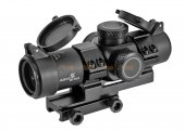 MARCH AMG HD GEN I-H 3x28 Fixed Optic Airsoft Rifle Scope with Mount (Black)