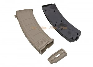 arcturus d-day dmag 74 30 130 rounds magazine for ak aeg color fde