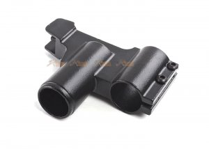 hephaestus steel front sight block type a with 14mm cw barrel adapter for ghk lct ak aeg