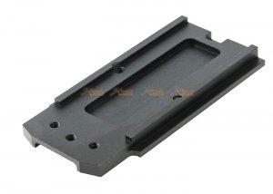 pro-arms aluminum cnc rmr lightweight mount base for sig air vfc p320 m17 gbb black