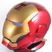 iron Man Full Helmet Mask with LED Light Eye & Rotary Display Stand