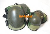 Tactical Knee & Elbow Pad Set (Woodland Camo)