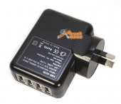 4 Ports USB Charger 100-240V AC-5V DC for BAOFENG UV-3R