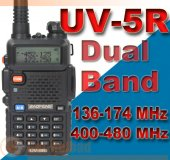 BAOFENG Dual band UV-5R VHF/UHF Radio Walkie Talkie