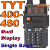 TYT TH-F8 UHF 400-480 Dual Display 2-Way Radio -Black