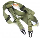 Tactical Dual 2-Point Tactical Bungee Sling (OD Green)