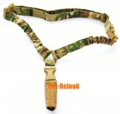 TMC Elastic Bungee CQB Single Point Rifle Sling Woodland